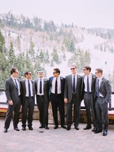 Utah Wedding by Leo Patrone Photography & Bluebird Events Tuxedo Wedding, Wedding Men, Wedding Images, Wedding Groom, Wedding Suits, Dream Wedding, Wedding Stuff, Gray Groomsmen Suits, Groomsmen Outfits