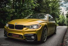 Car Wrap, Golden Yellow, Vehicle, Chrome, Satin, Bmw, Design, Elastic Satin, Design Comics