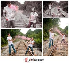 Powder Paint photo shoot idea! It looks like MAGIC! SO cute for an engagement shoot.