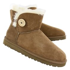 UGG Australia Womens MINI BAILEY BUTTON sheepskin fashion boots 12-3352 che