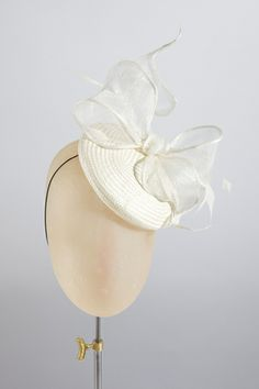 Lextington Cocktail hat in ivory | Rachel Black Millinery SS 2014