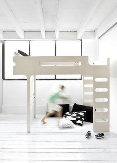 køjeseng modern bunk bed whitewash