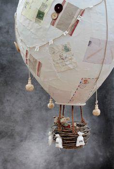 How to make a giant papier-mache hot air balloon