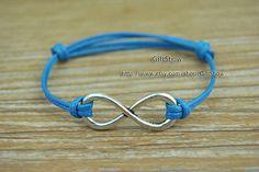 Infinity bracelet  Silver infinity charm bracelet  by GiftShow, $1.50