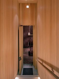Modern wine cellar entrance. Simple and beautiful