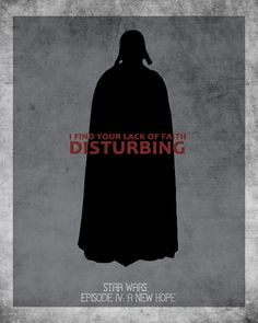 "Darth Vader - ""I Find Your Lack of Faith Disturbing"" | Via: 25.media.tumblr.com (#starwars #darthvader)"