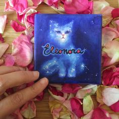 Cosmic cat in a canvas artworks. Custom by ClaudiaNanniFineArt