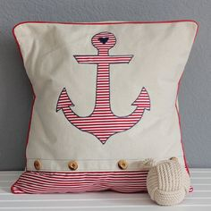 Add a little nautical flair to your living room with these pillow cases.