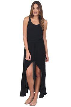 Indah Black Snap Dress