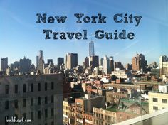 New York City Travel Guide via @Christine