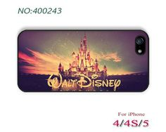Phone Cases, iPhone 5/5S Case, iPhone 5C Case, iPhone 4/4S Case, Phone covers, Disney Castle, Skins, Case for iPhone-400243