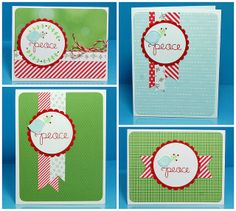 Lawn Fawn - Peace Joy Love stamps and paper _ beautiful set of cards by Lynnette Simple Christmas Cards, All Things Christmas, Paper Craft Making, Paper Crafting, Lawn Fawn Blog, Diy Cards, Handmade Cards, Love Stamps, Winter Cards
