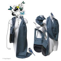 """Modern and innovative bag with scarf or scarf-bag // Schal-Tasche, Modell """"Hug"""""""