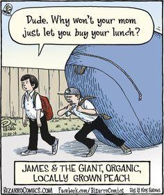Bizarro by Dan Piraro - Bizarro Comic Strip Funny Cartoons, Funny Comics, Funny Memes, Bizarro Comic, Awkward Photos, Comics Kingdom, Free Comics, Comic Panels, Cartoon Pics