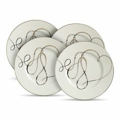 Heart Accent Plates Set of 4