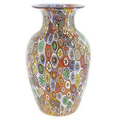 Golden Quilt Millefiori Urn Vase ** Visit the image link more details.
