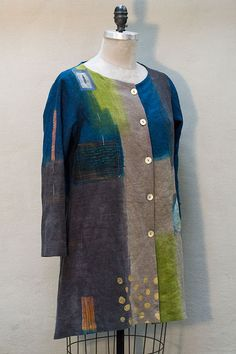 Navy/Brown/Green Jacket – Front | Holly Badgley Design