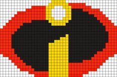 The Incredibles Logo Perler Perler Bead Pattern / Bead Sprite