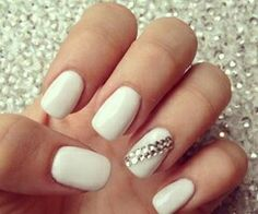 White gel and stones