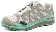 Salomon Kalalau Grey Womens Womens Trail Running Shoes  Hiking Shoes Size 9 *** Find out more about the great product at the image link. (This is an affiliate link)
