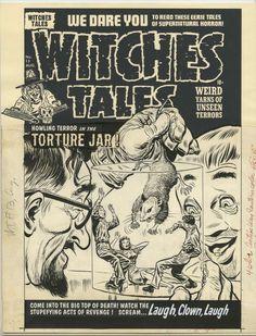 Original Comic Art:Cover, Lee Elias Witches Tales #13 Cover Original Art (Harvey,1952) Image #1