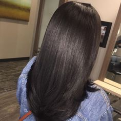 Inspiring us to get Light Relaxed Perm!  SHOP ! Weft and Closures.  #onychair #hairinspo #hairstyles #longhair #blackhair #hair #blackgirl