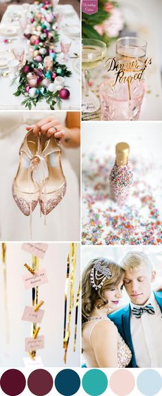 A Colorful New Years Eve Wedding Palette