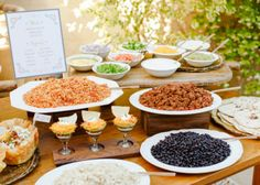 How to make your own taco bar + free taco bar printables. Such a great idea for a bridal shower or even for your wedding.