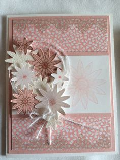 Grateful Bunch in Blushing Bride by Patricia Santoso, Hard to see but the large bloom has been brushed lightly with Wink of Stella Clear. Love it!