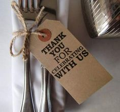 Wedding Table Decor-Rustic Wedding Place Cards-Thank You For Celebrating-Various Sets- Shabby Chic Wedding Table Decor-Unique Wedding Favors Unique Wedding Favors, Chic Wedding, Unique Weddings, Rustic Wedding, Our Wedding, Wedding Decorations, Table Decorations, Decor Wedding, Wedding Cutlery