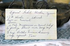 Step back in time with this vintage Apricot Baked Chicken recipe. Read about this recipe card's history and view other recipes at the Vintage Recipe Project