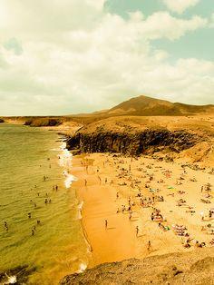 Palmas, Canary Islands, Spain Papagayo beach