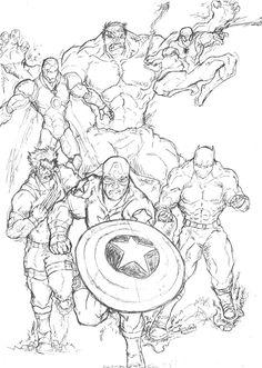 96 Meilleures Images Du Tableau Coloriages Super Heros Marvel
