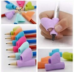 4Pcs Studenten Stift Holding Device Correcting Pen Writing Posture Grip U Gift