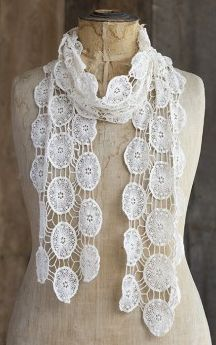 Bohemian Cream Scarf.  Item #SCV053  Available at Impulse Gifts 812.481.2880 We ship daily.   https://www.facebook.com/ImpulseJasper