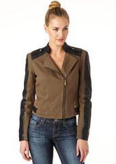 Moto Jacket w/Faux Leather Trim at Alloy.com