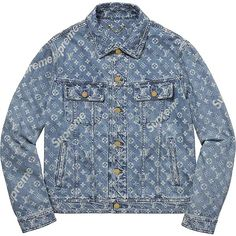 Louis Vuitton Supreme Denim Jacket as seen on Rihanna Jean Louis Vuitton, Louis Vuitton Sweater, Blue Jean Jacket, Denim Coat, Mode Inspiration, Looks Style, Mode Style, Swagg, Burberry