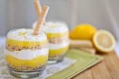 "Dessert In A Glass: Lemon ""Pucker Up"" Parfaits with Vanilla Bean Cream post image"