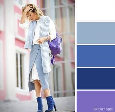 12 superb color combinations for your spring wardrobe. Focus on purple