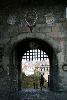 Unteres Tor in der Oberstadt in Bregenz Overseas Travel, Us Travel, Austria, Spaces, Bregenz, City