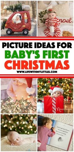 These 18 picture ideas for baby's first Christmas are so cute! If you're planning a baby photo shoot to celebrate, check this out! first christmas Picture Ideas for Baby's First Christmas Babys 1st Christmas, Christmas Fun, Holiday Fun, Baby Christmas Pictures, Winter Baby Pictures, Baby Girl Christmas, Boy Pictures, Babys First Pictures, Infant Christmas Photos