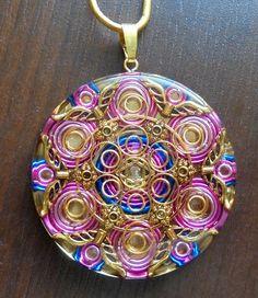 Orgone Generating Amulet model: Purple Flame