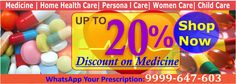 UP TO 20 %  Discount on Medicine. Shop Now Visit... www.khemist.in
