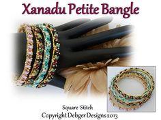 Xanadu Petite Bangle  Tila Pattern Tutorial by DebgerDesigns, $7.00