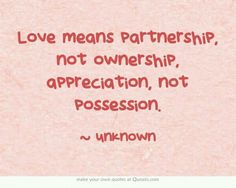 Love means...