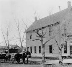 301  Wilcox -The building was built by William Cantril in 1874 to serve as the Douglas County Courthouse in Castle Rock. Upon completion of the courthouse on Wilcox Street, this building became the home to the Castle Rock Journal, the community's newspaper. ::  Douglas County History - Photograph Collection