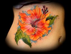 Tattoo Art Hibiscus Tattoos Meaning And Pics. Off The Map Tattoo Tattoos Color Hibiscus Flower On Ribs Tattoo. Hibiscus Flower Tattoos, Flower Tattoo On Ribs, Flower Tattoo Drawings, Flower Tattoo Shoulder, Hibiscus Flowers, Tattoo Flowers, Hawaiian Flowers, Hawaiianisches Tattoo, Tattoo Now