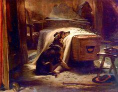 """art-nimals: """" Edwin Henry Landseer (1802 - 1873), Old Shepherd's Chief Mourner, 1837, Victoria and Albert Museum, London. """""""