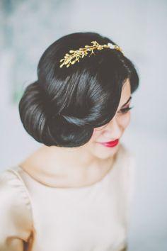 Snow white inspired wedding hairstyle