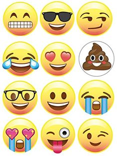 Emoji Pins, Set of 12 Different Emojis, 1 inch, Super Emoji Fun for Birthday Parties, Favors, Great for Prizes, Classroom Fun, Rewards, Decorating Your Backpack, Hat, Clothing, Made in USA *** Be sure to check out this awesome product.